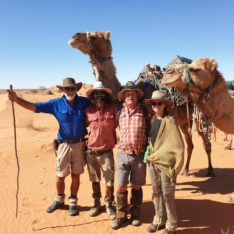 I just completed a camel trek across the Simpson desert in Australia
