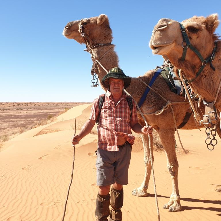Laurence Webb With his Camel